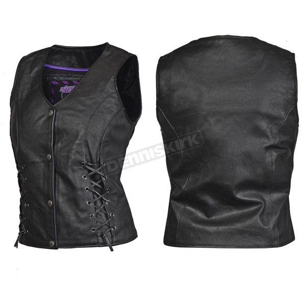 Interstate Leather Women's Black Dixie Vest - I3687M