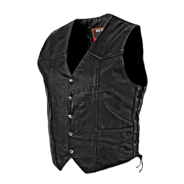 Interstate Leather Black King Vest - I1302XXL