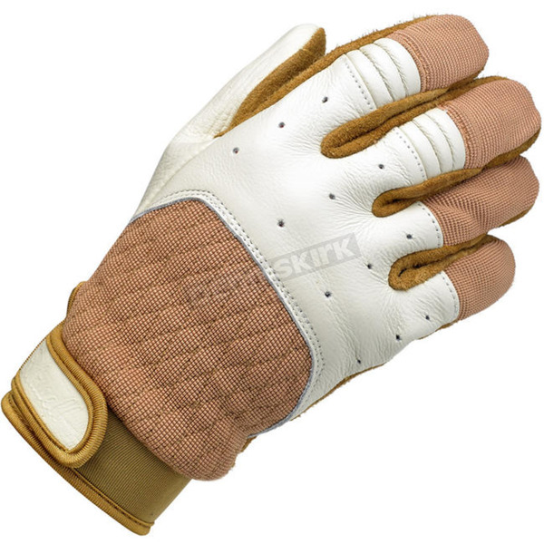 Biltwell White/Tan Bantam Gloves - GB-XLG-WT-TN