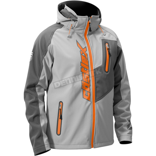 Castle X Gray/Orange Barrier Tri-Lam Jacket - 70-8459