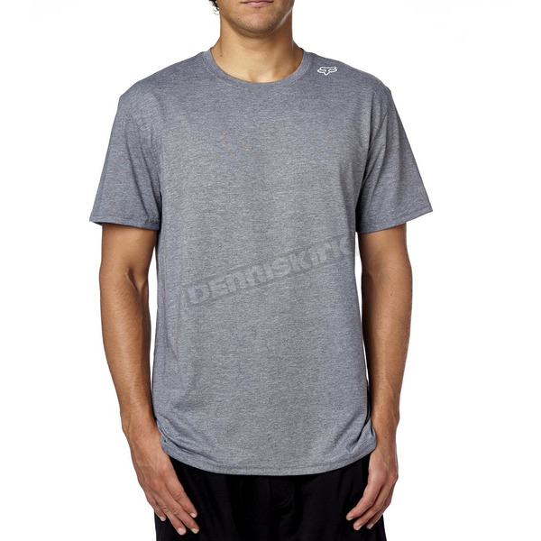 Fox Heather Graphite Flip Shot Tech T-Shirt - 16404-185-S