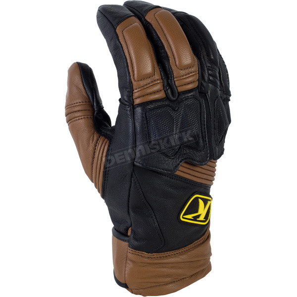 Klim Brown Short Adventure Gloves - 5031-001-130-900