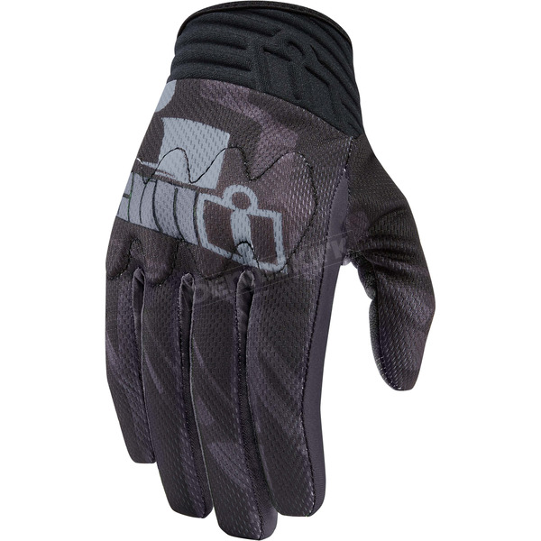 Icon Black Anthem Primary Gloves - 3301-2702