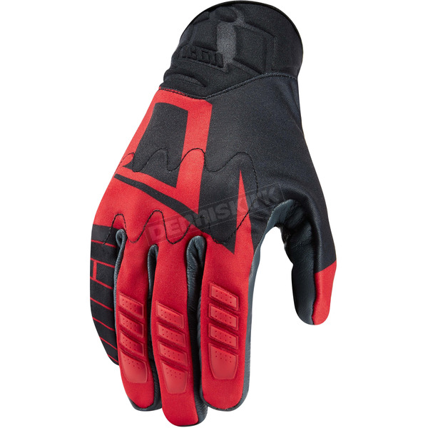 Icon Red Wireform Gloves - 3301-2775