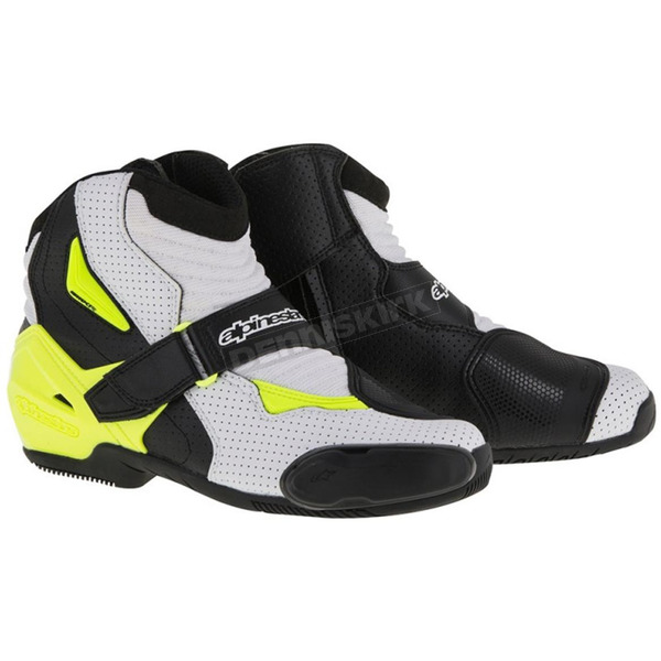 Alpinestars Black/White/Yellow Vented SMX-1R Boot - 2224016-125-48