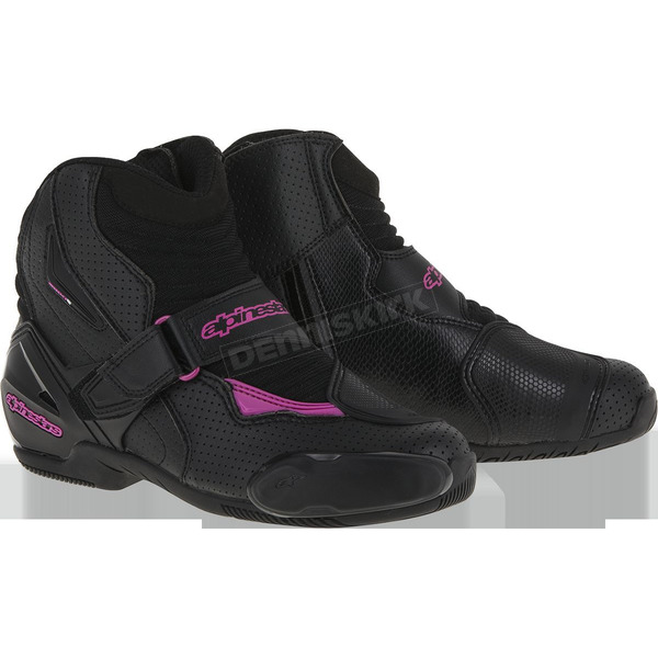 Alpinestars Women's Black/Pink Vented Stella SMX-1R Boot - 2224116-1039-43