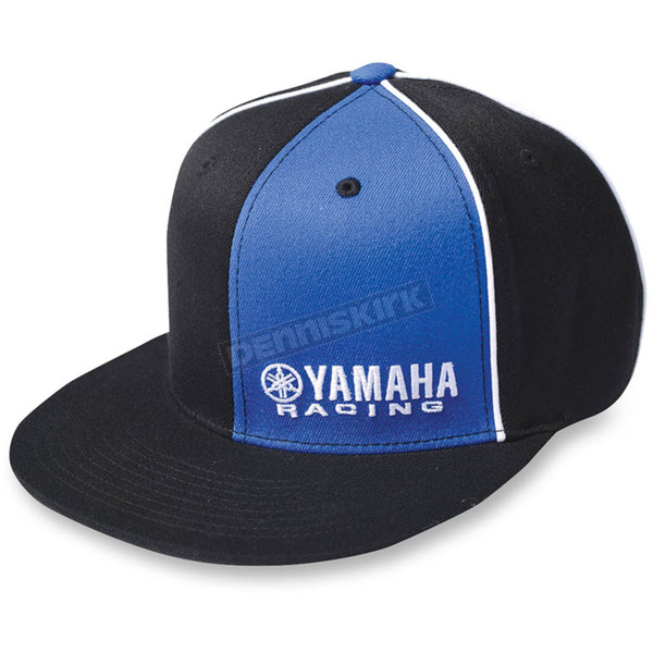 Factory Effex Black/Blue Yamaha Racing Flex-Fit Hat - 12-88076