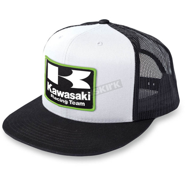 Factory Effex Black/White Kawasaki Racing Snapback Hat - 18-86100