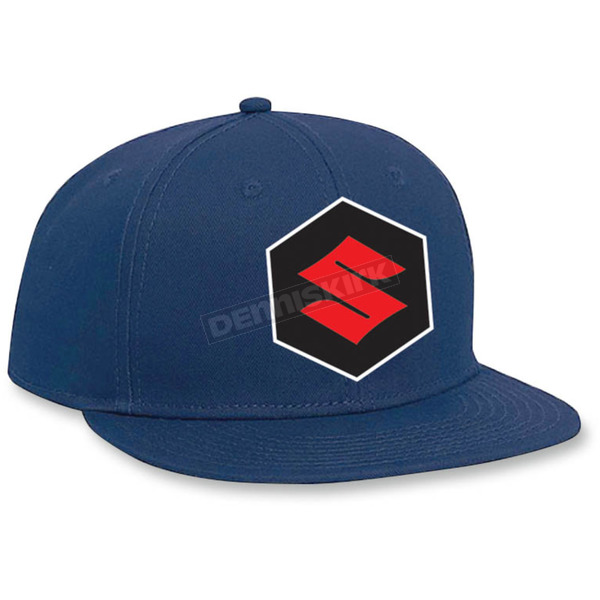 Factory Effex Youth Blue Suzuki Snapback Hat - 19-86412