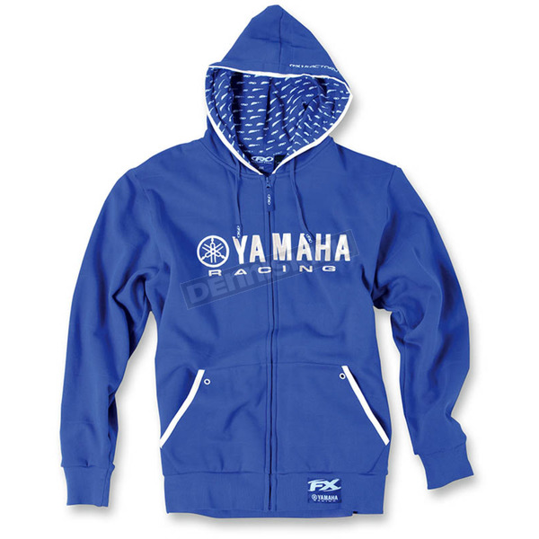Factory Effex Blue Yamaha Racing Zip-Up Hoody - 12-88426