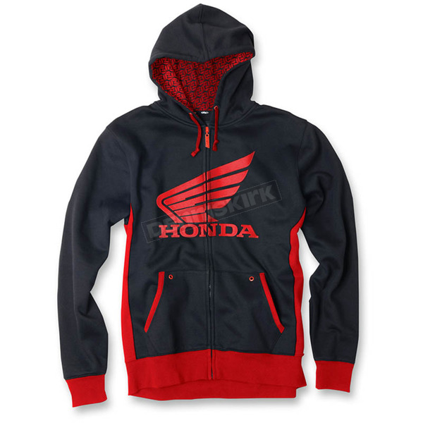 Factory Effex Black/Red Honda Limit Zip Up Hoody - 15-88350