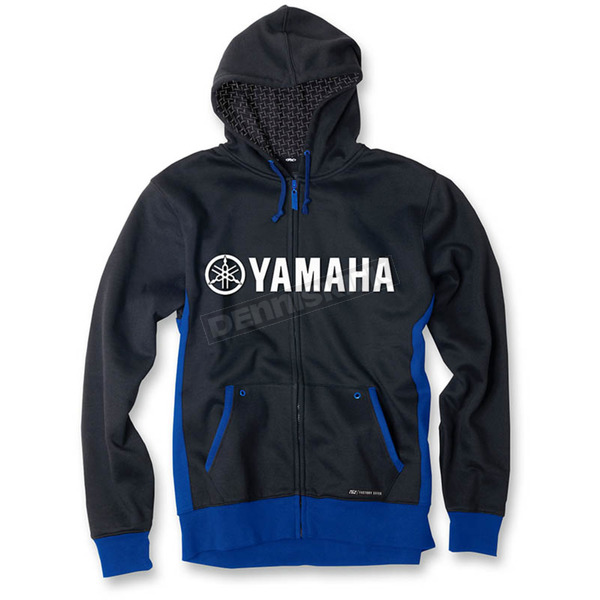 Factory Effex Blue/Black Yamaha Lined Zip-Up Hoody - 16-88242