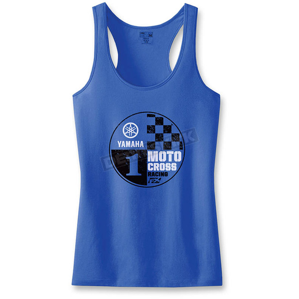 Factory Effex Women's Royal Blue Yamaha Tank Top - 18-87274
