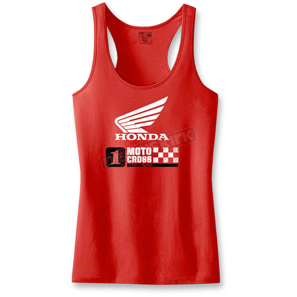 Factory Effex Women's Red Honda Tank Top - 18-87372