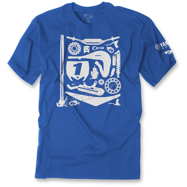 Factory Effex Youth Royal Blue Yamaha Dissection T-Shirt - 19-83202