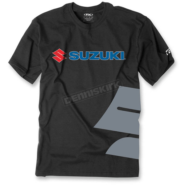 Factory Effex Black Suzuki Big S T-Shirt - 15-88474
