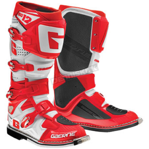 Gaerne Red/White SG-12 Boots - 2174-033-11