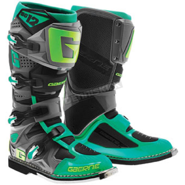 Gaerne Turquoise/Lime SG-12 Boots - 2174-040-10