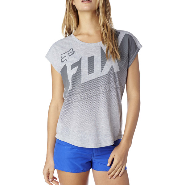 Fox Women's Heather Gray Fragmentation Shirt - 16836-040-S