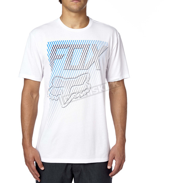 Fox White Fractured Premium T-Shirt - 16856-190-S