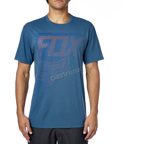 Fox Blue Steel Fractured Premium T-Shirt - 16856-305-2X