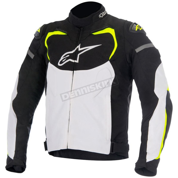 Alpinestars Black/White/Fluorescent Yellow T-GP Pro Textile Jacket - 3305016-125-S