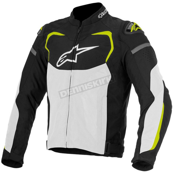Alpinestars Black/White/Fluorescent Yellow T-GP Pro Air Textile Jacket - 3305116-125-S