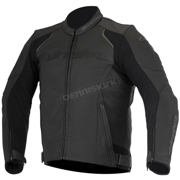 Alpinestars Black Devon Airflow Leather Jacket - 3102116-10-60