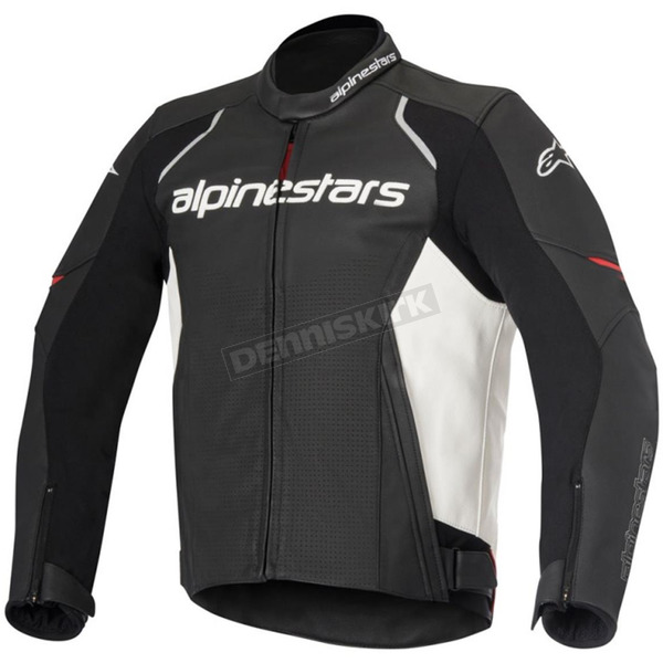 Alpinestars Black/White Devon Airflow Leather Jacket - 3102116-12-48