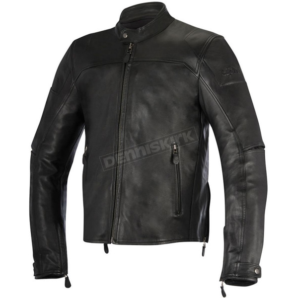 Alpinestars Black Brera Leather Jacket - 3107016-10-58