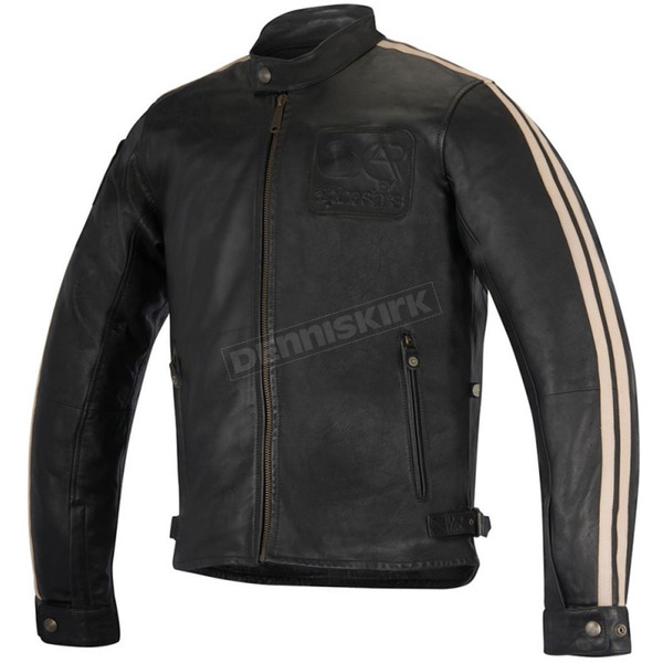 Alpinestars Black Charlie Leather Jacket - 3108016-1250-2X