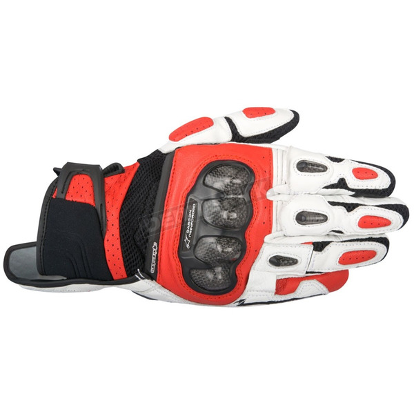 Alpinestars Black/White/Red SPX Air Carbon Gloves - 3567316-123-3XL