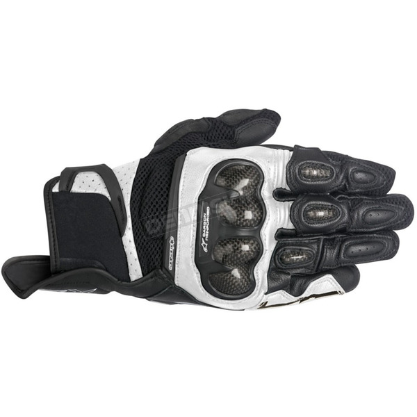 Alpinestars Black/White SPX Air Carbon Gloves - 3567316-12-M