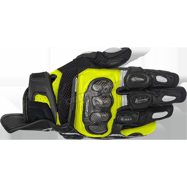 Alpinestars Black/Yellow SPX Air Carbon Gloves - 3567316-155-XL