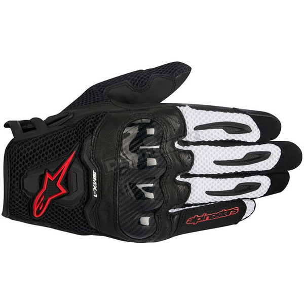 Alpinestars Black/White/Red SMX-1 Air Glove - 3570516-123-S
