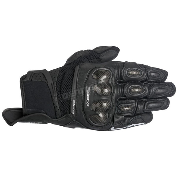 Alpinestars Stella Black SPX Air Carbon Leather Gloves - 3517716-10-L