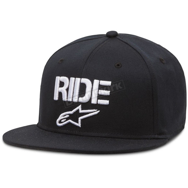 Alpinestars Black Ride Flat Hat - 10168102410LXL
