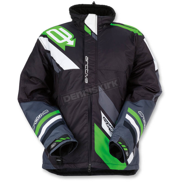 Arctiva Black/Green Comp Insulated Jacket - 3120-1590