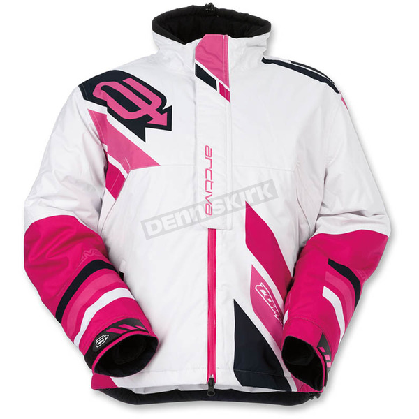 Arctiva Women's White/Pink Comp Insulated Jacket - 3121-0574