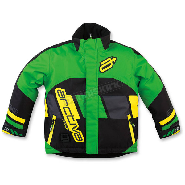 Arctiva Youth Green/Yellow Comp Insulated Jacket - 3122-0326