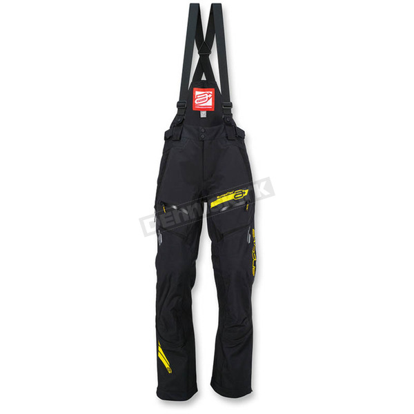 Arctiva Black/Hi-Vis Yellow Vibe Shell Bibs - 3130-1061