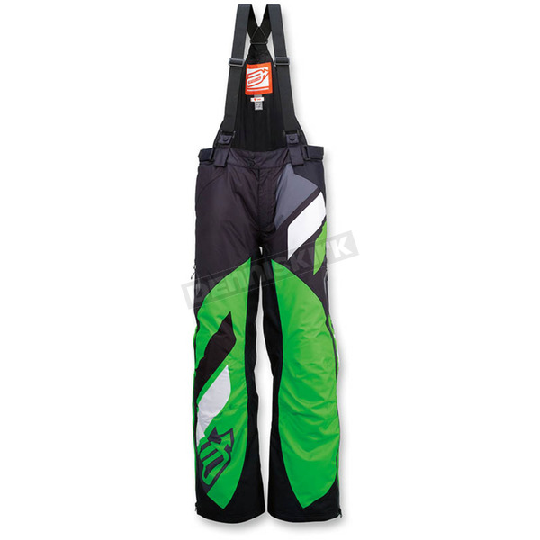 Arctiva Black/Green Comp Insulated Bib - 3130-1091