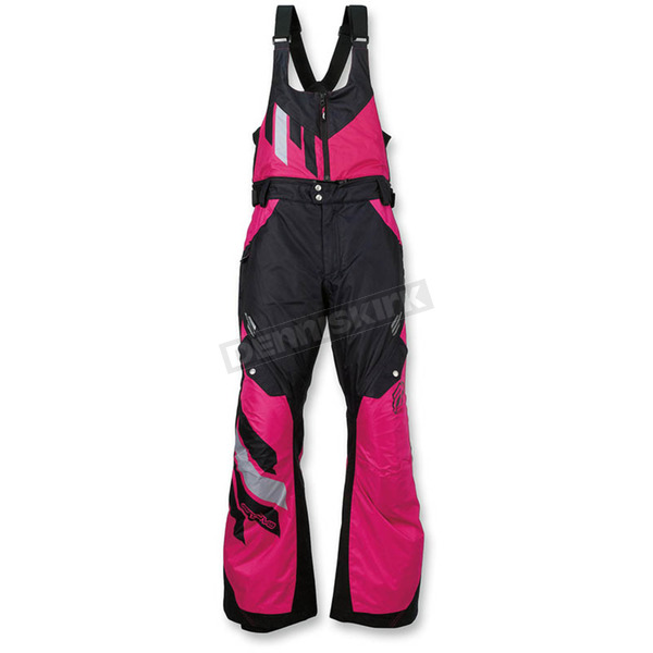 Arctiva Women's Black/Pink Eclipse Insulated Bib - 3131-0459