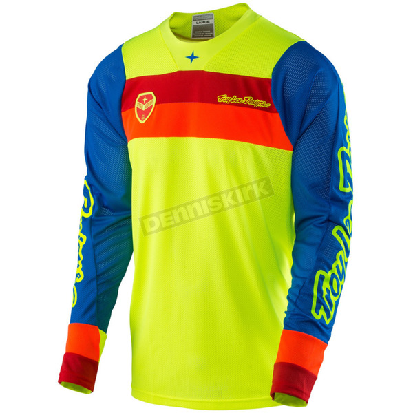 Troy Lee Designs Fluorescent Yellow SE Air Corsa Jersey - 302133504