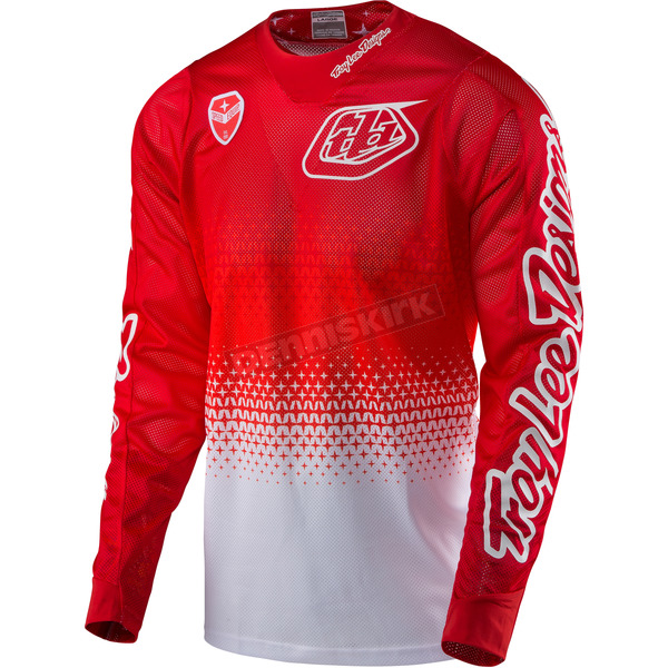 Troy Lee Designs White/Red SE Air Starburst Jersey - 302013144