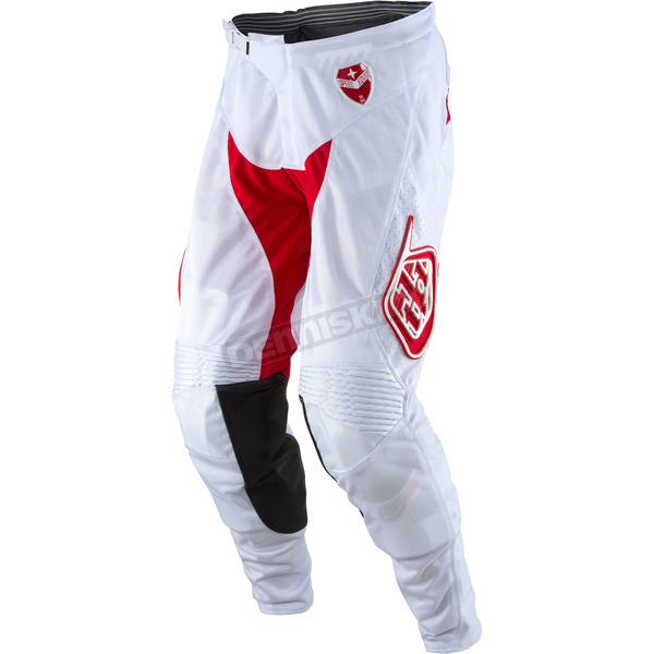 Troy Lee Designs White/Red SE Air Starburst Pants - 202013146