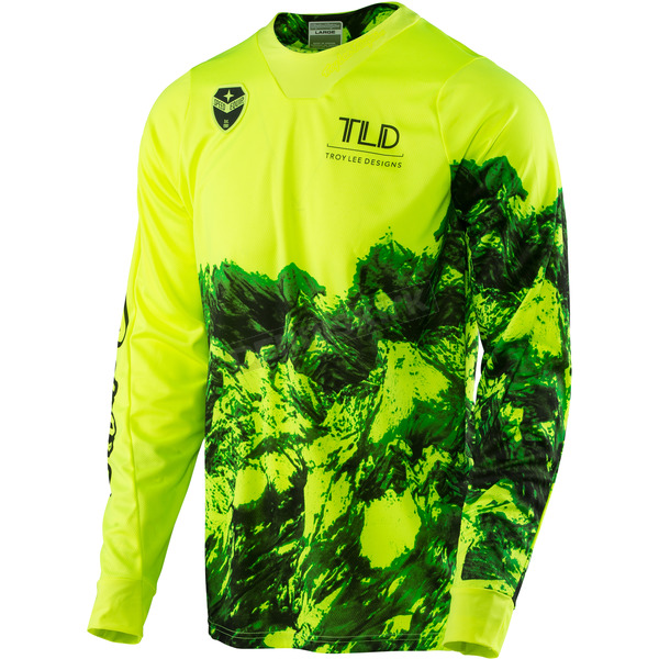 Troy Lee Designs Fluorescent Yellow SE Gravity Jersey - 303077503
