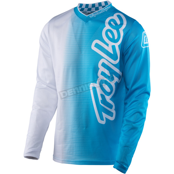 Troy Lee Designs Youth White/Blue GP Air 50/50 Jersey - 306129103
