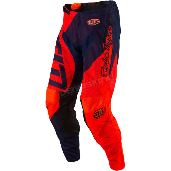 Troy Lee Designs Youth Fluorescent Orange/Navy GP Air Quest Pants - 209130735