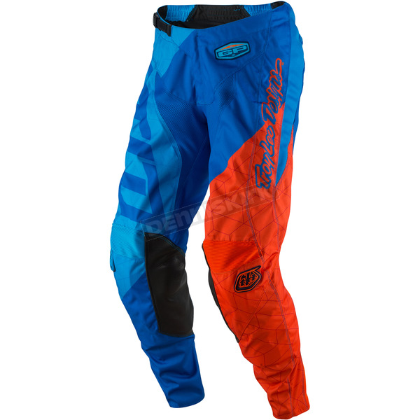 Troy Lee Designs Cyan/Orange GP Quest Pants - 207130074
